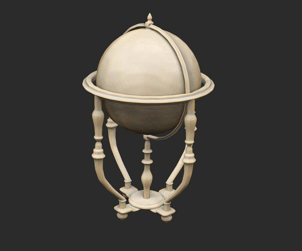 StandingGlobe.jpg Download free STL file Various Cthulhu Props x25 • 3D printing object, CharlieVet