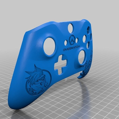 4541306b9f23e9f38fb6bf568573acf1.png Download free STL file Xbox One S Customer Controller Shell - Overwatch: Tracer Edition • 3D print object, mmjames