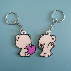 4.jpg Download STL file Milk & Mocha Bear Couple Keyrings (OPTION 2) • Design to 3D print, agostaty