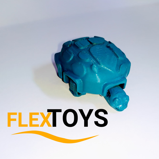 Tortuga-3.png Download free STL file Cute Flexi Turtle • 3D printing object, FlexToys