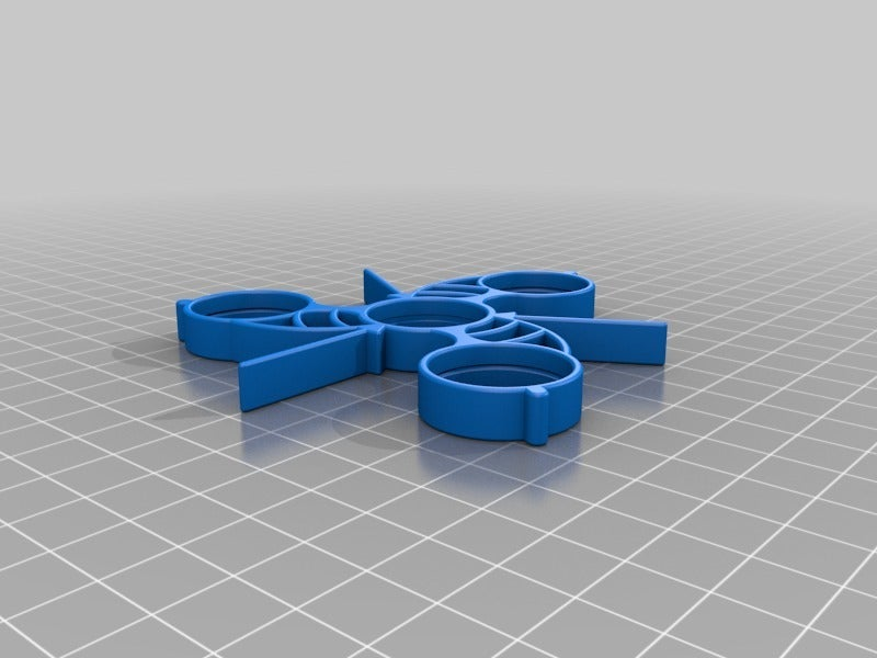 32cd2dc409c820b68e082c11b27e8c65.png Download free STL file Fidget Spinner with Flickable Fins • 3D print object, crzldesign