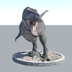 t rex11.jpg Download STL file Realistic Dinosaurs T-Rex Tyrannosaurus Female  ( 2 Poses ) With Free Keychain • 3D printing design, samlyn696