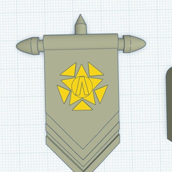 InitiativeBanner.png Download free OBJ file Initiative Banner with Emblem • 3D printing design, puffinpuffs