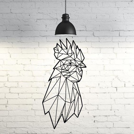 51.rooster face.jpg Download STL file Rooster Face Wall Sculpture 2D • 3D printable object, UnpredictableLab