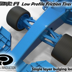 F1_low-profile_friction2.png Download free STL file Low Profile Friction Tires 2 for OpenR/C F1 car • 3D print design, Palmiga