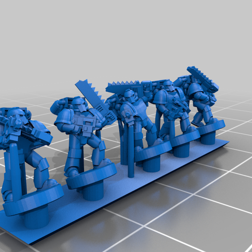 PlateArmourTroop_Jet_A.png Download free STL file Galactic Crusaders - Plate Armour Troop - 6-8mm • 3D printer template, MoonJammy