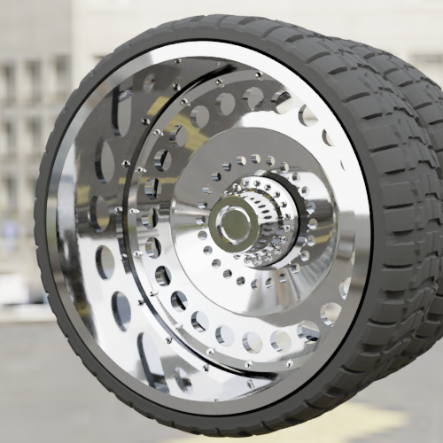R6-(1).png Download STL file WHEEL FOR CUSTOM TRUCK 18m-R6 (FRONT AND DOUBLED BACK) • Object to 3D print, Pixel3D