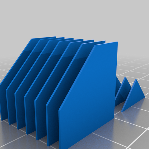 support_3mm_45deg_profiles.png Download free STL file Custom supports fins, different spacing, easy resizeable • 3D print object, Tse