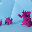 pokemon-low-poly017.png Download file Low Poly Pokemon Collection 151 • 3D printable object, 3D-mon
