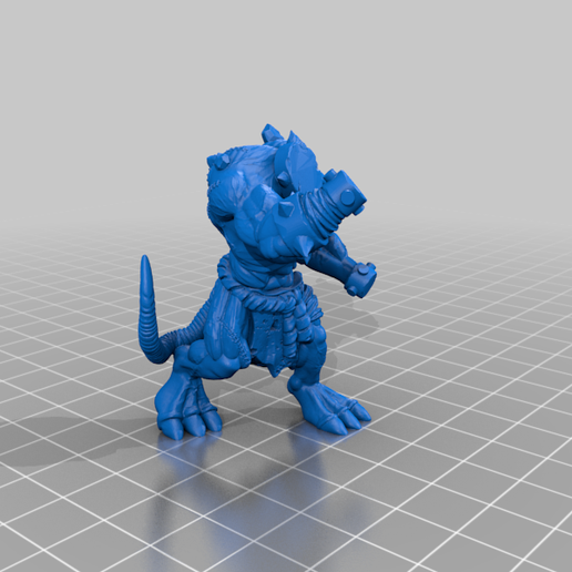 RatOgre_v2.1_a.png Download free STL file Mutant Rat Monster (Remix) • 3D printer design, Erdrick