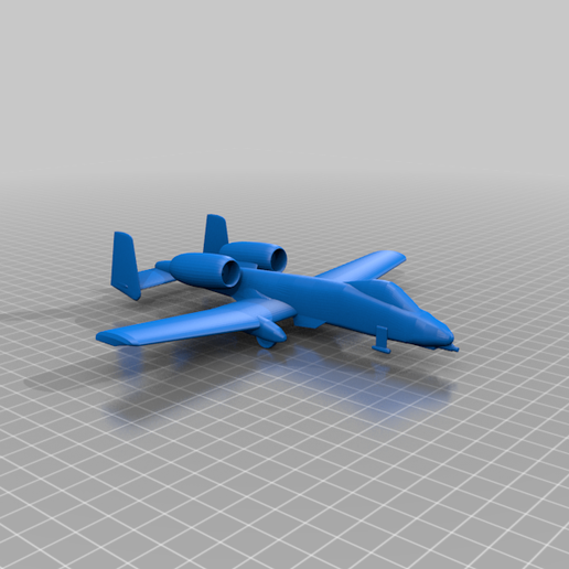 A-10A_Warthog.png Download free STL file Fairchild Republic A-10A Thunderbolt II • 3D printable template, marcellom
