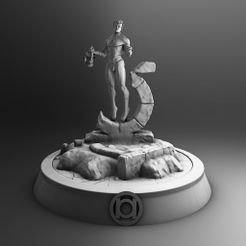 1.jpg Download STL file Green Lantern • 3D printable template, accesorio3d