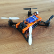 Capture d'écran 2017-02-27 à 18.00.11.png Download free STL file Easy removable top plate for microquad with room for Horizon Hobby micro FPV camera • Object to 3D print, B2TM