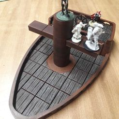 3.jpeg Download STL file Tabletop ship boat (wood effect) for scenery dungeons and dragons • 3D printer object, bellavistanicola