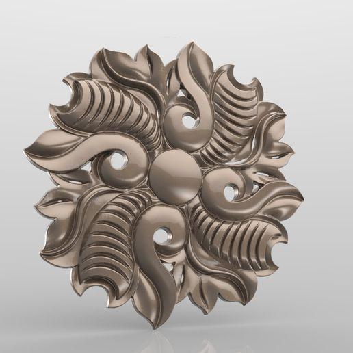Rozetka_022.jpg Download free STL file Vintage mouldings for old classic apartments cnc art router machine 3D printed • Design to 3D print, stl3dmodel