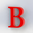 b2.png Download free STL file Letras / abecedario completo • Object to 3D print, Lubal