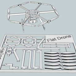 ef7b5ce07976dac149a36d92ee4f481d_display_large.jpg Download free STL file Flat Drone • 3D printing design, Snorri