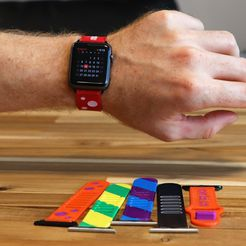 c44d0600b0d6ba919dcb6ec2846d65cc_display_large.jpg Download free STL file Multi-Material and Multi-Color Flexible Watch Band • 3D printer object, MosaicManufacturing