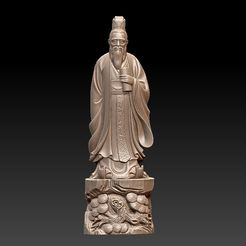 ConfuciusSculptureA1.jpg Download free STL file Confucius statue • 3D printing object, stlfilesfree