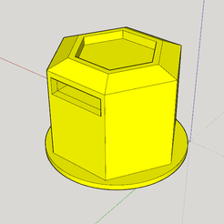 cache ecrou.PNG Download free STL file Duster nut cover and accessories • Model to 3D print, TATANKA