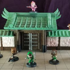 Gate 1-100.jpg Download STL file Modular Magnetic Japanese Gate • 3D print model, HyperMiniatures