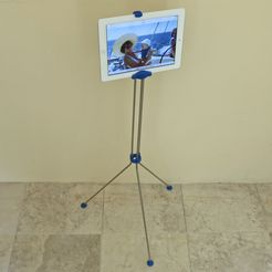 IMG_3532_display_large.jpg Download free STL file iPad floor stand • 3D print template, Jeypera3D