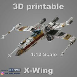 Cover_Cults3d-new.jpg Download STL file STAR WARS X-WING (1:12 Scale) • 3D printer object, Nerd_Maker_Engineer