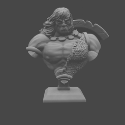 CONAN_BUST.png Download free STL file Barbarian Classic Bust • 3D print template, DomesticTroll_3dMaker
