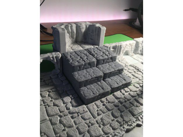 594262b27cb4393a37cbab5ba8ccb984_preview_featured.JPG Download free STL file Cavern Riser Blocks (Openforge 2.0 compatible) • Model to 3D print, Poxos