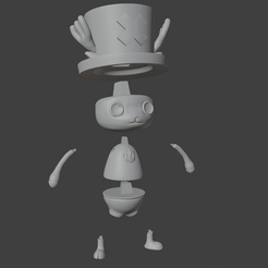 tt4.png Download STL file Tony Tony Chopper One Piece concept  • 3D printing object, cheandrou