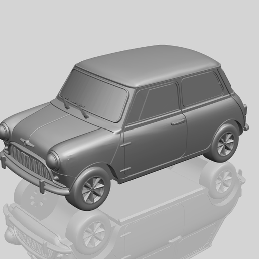 16_mini_168mm_for_staplesA00-1.png Download free STL file Morris Mini Minor Mark-1 • 3D print object, GeorgesNikkei