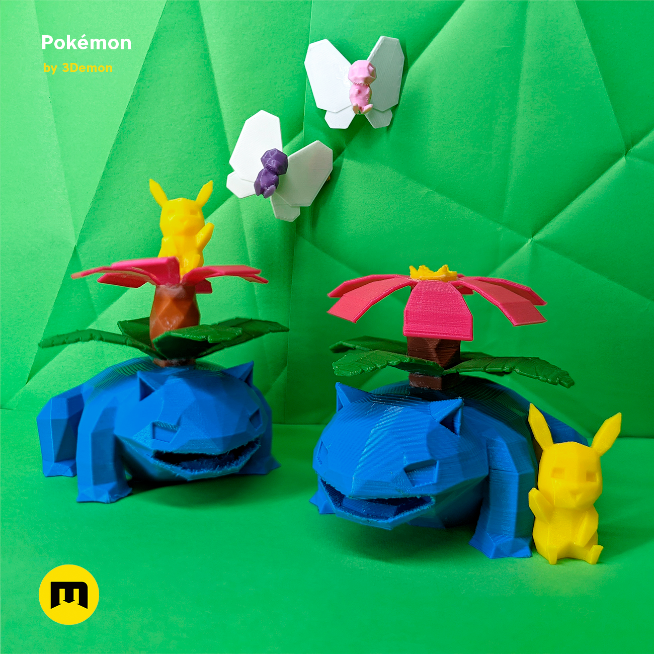 square-grass-groupe.png Download file Low Poly Pokemon Collection 151 • 3D printable object, 3D-mon