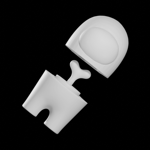 10 AmongUs Pieces.png Download OBJ file AMONG US, CREWMATE AND IMPOSTOR INCLUDED • 3D printable model, Krashadar3D