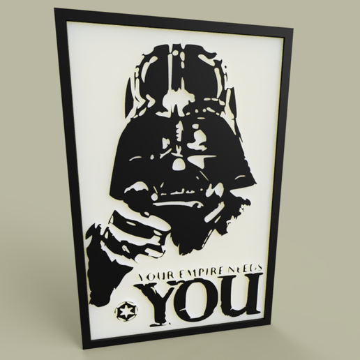 c56847d2-3a29-47c8-8d41-6c5b6a1573a3.PNG Download free STL file StarWars - Darth Vader -Your Empire Needs YOU - old poster • 3D printing template, yb__magiic