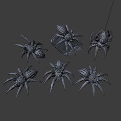 Cyber-Spiders.jpg Download STL file Cyber Spider • 3D printable design, Lord_Chronos