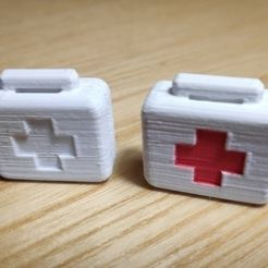 container_scale-1-10-first-aid-kit-3d-printing-233523.jpg Download STL file Scale 1/10 first aid kit • 3D printer template, Gekon3D
