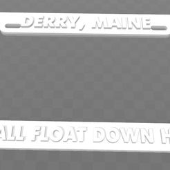 9fb94521b1c5ba46294e79190d3ebc3f_display_large.jpg Download free STL file Derry, Maine - We all float down here, license plate frame (It) • Template to 3D print, becker2