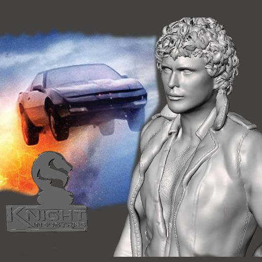 01 main free.jpg Download STL file Knight Rider – Young Hoff - by SPARX • 3D printable design, SparxBM