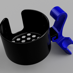 Woods_Cup_Holder.png Download free STL file Cup Holder for Woods Strathcona Folding Chair • 3D printer design, WilkBoy