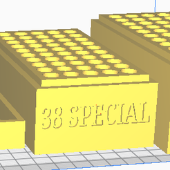 38 SPECIAL.png Download STL file 38 SPECIAL (50 Rounds) Stackable Ammo Storage • Template to 3D print, BACustomsMN