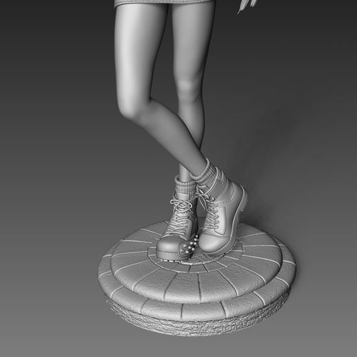 tifa8.jpg Download STL file Tifa Lockhart Final Fantasy VII Fanart Statue 3d Printable • 3D print template, Gregorius_Pambudi