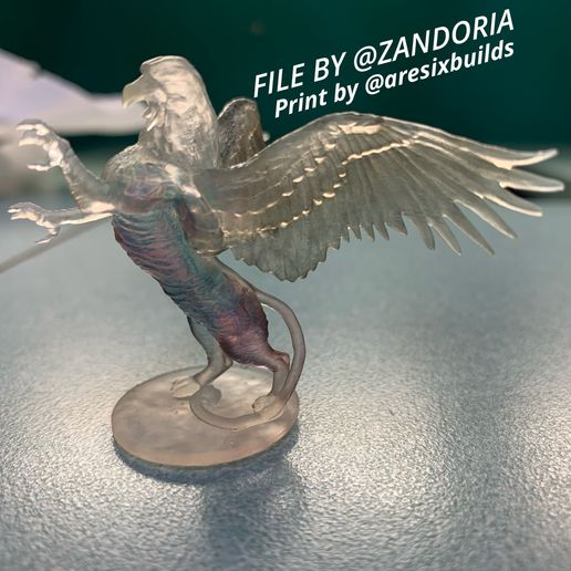 Photo Jan 31, 5 34 51 PM.jpg Download STL file Griffon Rampant • 3D print template, Zandoria