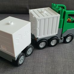 20210322_075900.jpg Download 3MF file Lego DUPLO container trailer + DPD container • 3D printer template, Janek250