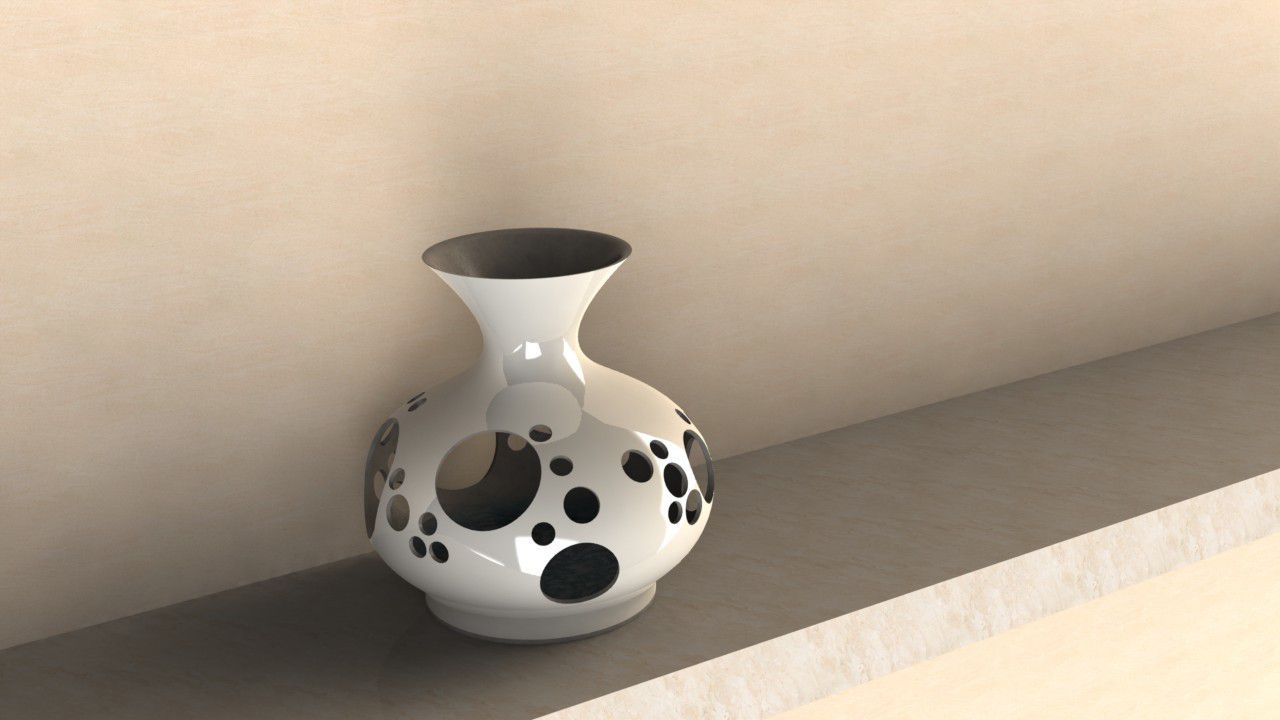 2.JPG Download STL file Vase with holes • Template to 3D print, EGO