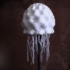Jellyfish_lamp_shade_unellenu_04_display_large.jpg Download free STL file Jellyfish Lampshade • 3D printer model, Yazhgar