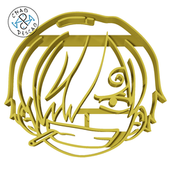 One-Piece-Vinsmoke-Sanji-6cm.png Download STL file Vinsmoke Sanji - One Piece - Cookie Cutter - Fondant - Polymer Clay • 3D printing object, Cambeiro