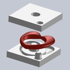 20190417_104742000_iOS.jpg Download free STL file 3D printed molds (heart ring) - flexible rubber parts (Sugru) • 3D printing template, nabu3d