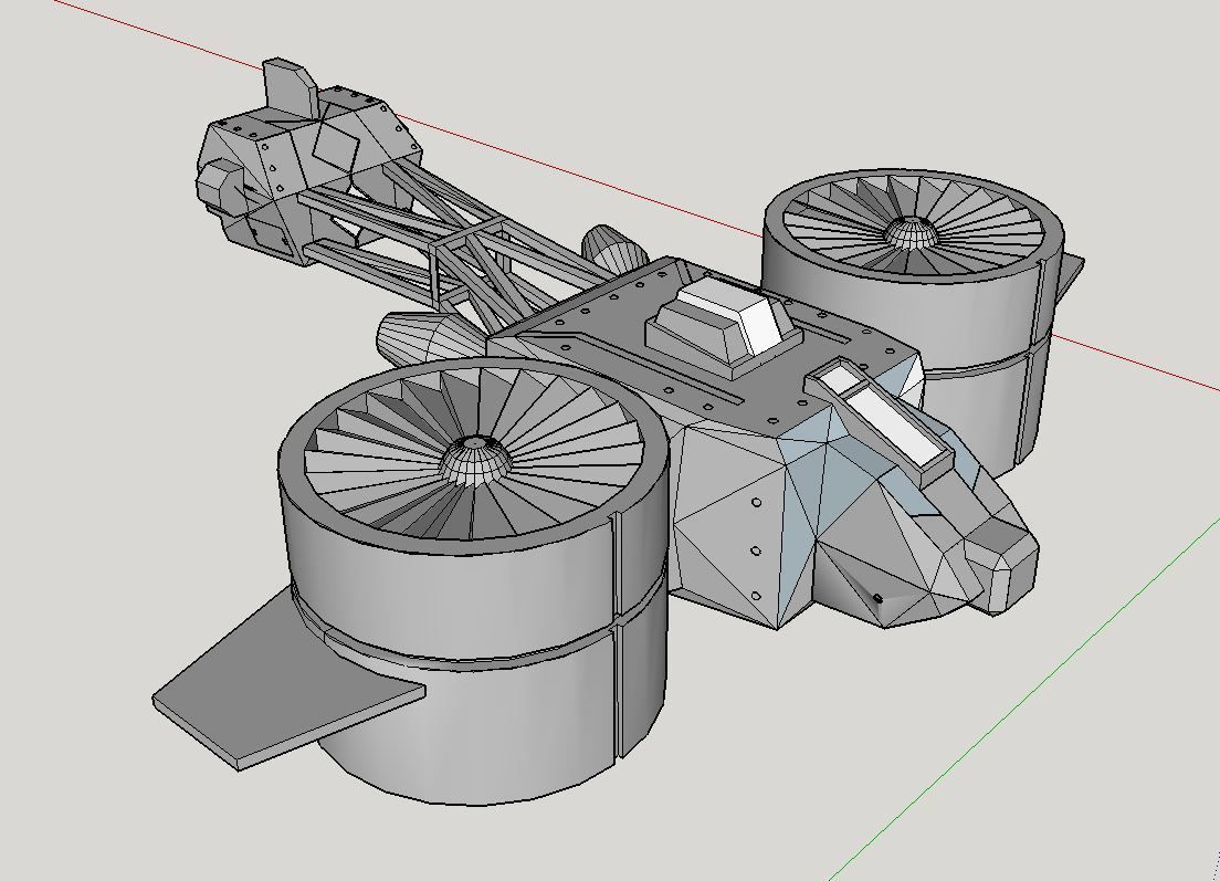 Vue du gyrocopter.JPG Download free file Gyrocopter science fiction • Object to 3D print, Paul_Vallon