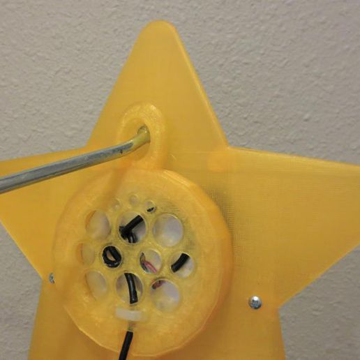 il_794xN.2148568405_8quf.jpg Download STL file Large Light Up Mario Power Star With Multiple Hanging Options! Color changing, Usb Lamp Tree topper, RGB LED Super Star Christmas Lamp • 3D printing model, mechengineermike