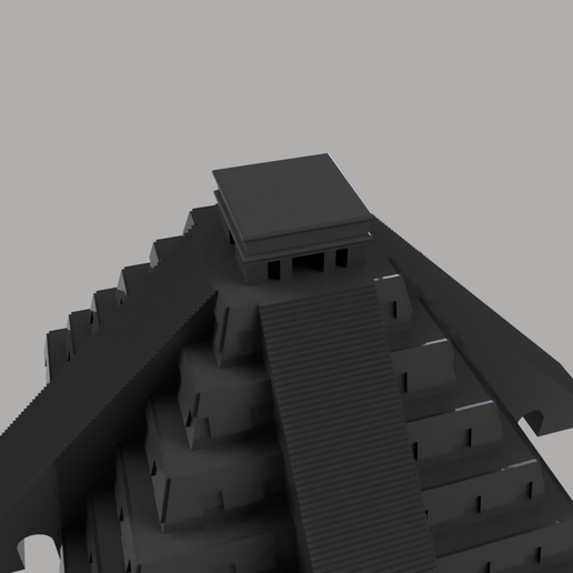 Torre_de_mexico_2021-Jan-15_06-24-22AM-000_CustomizedView34339892759.png Download STL file The Kukulkan Temple • 3D printer design, nr_modelos3d